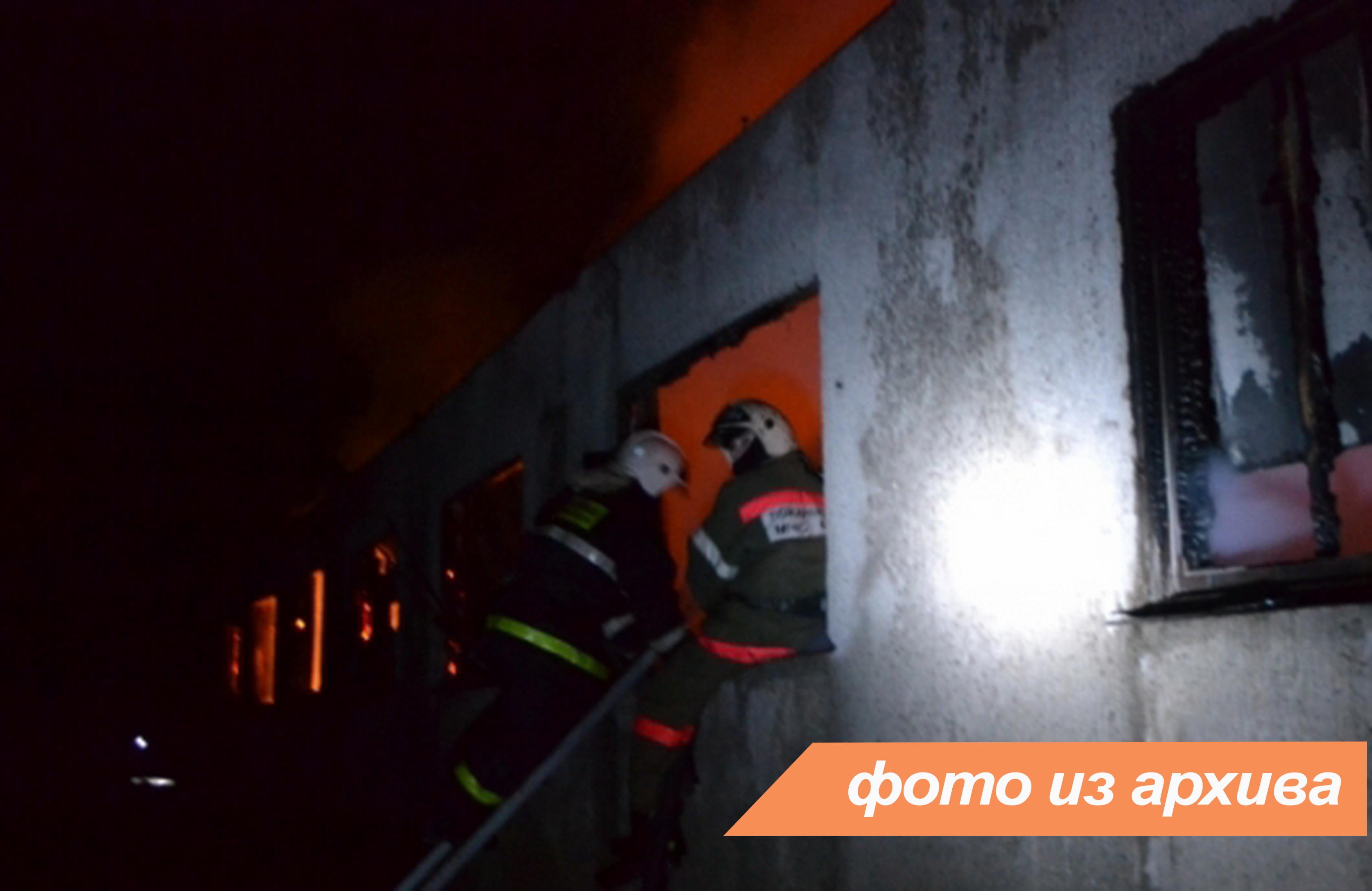Пожарно-спасательное подразделение Ленинградской области ликвидировало пожар в г. Волхов