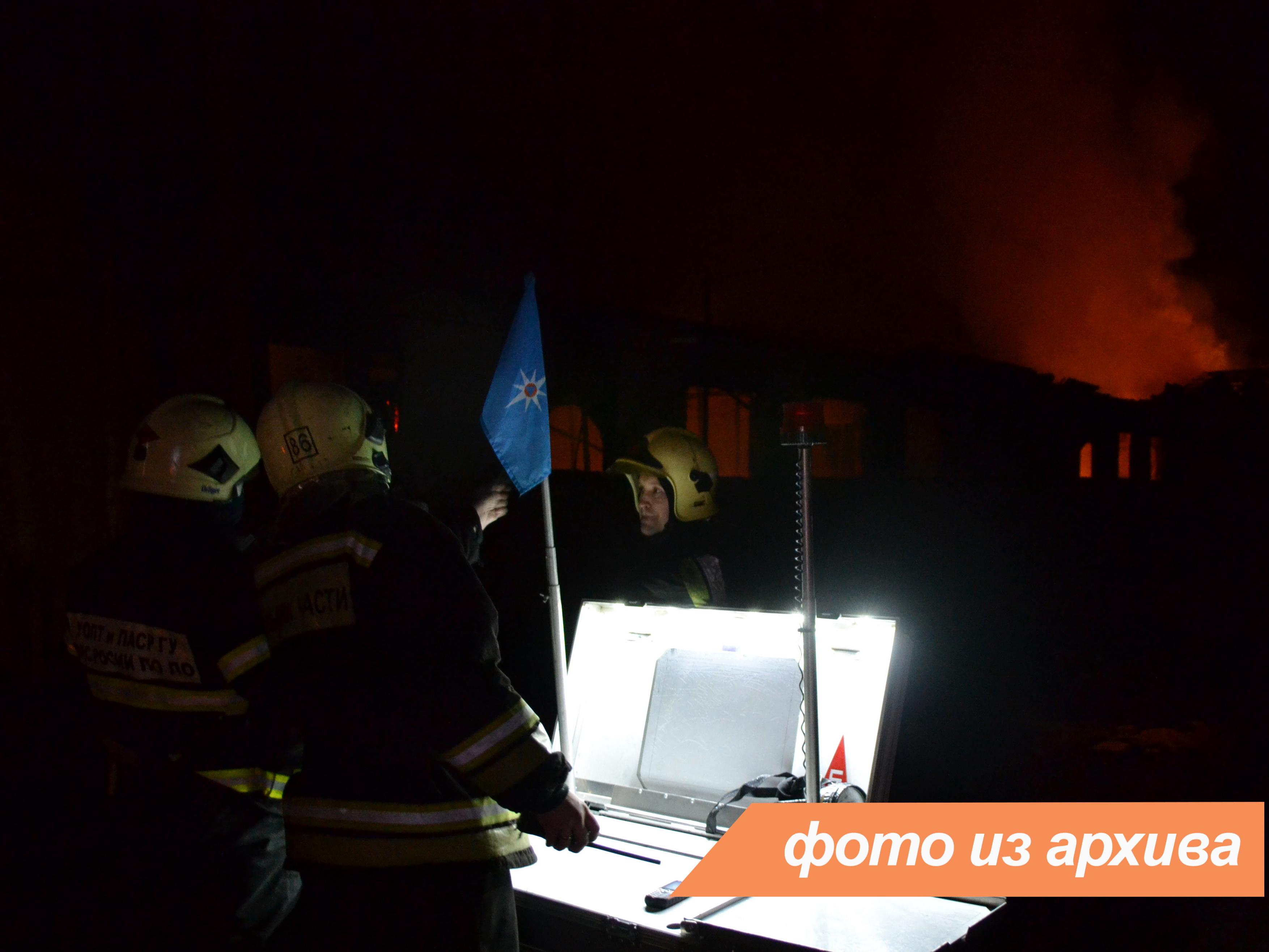 Пожарно-спасательное подразделение Ленинградской области ликвидировало пожар в Гатчинском районе