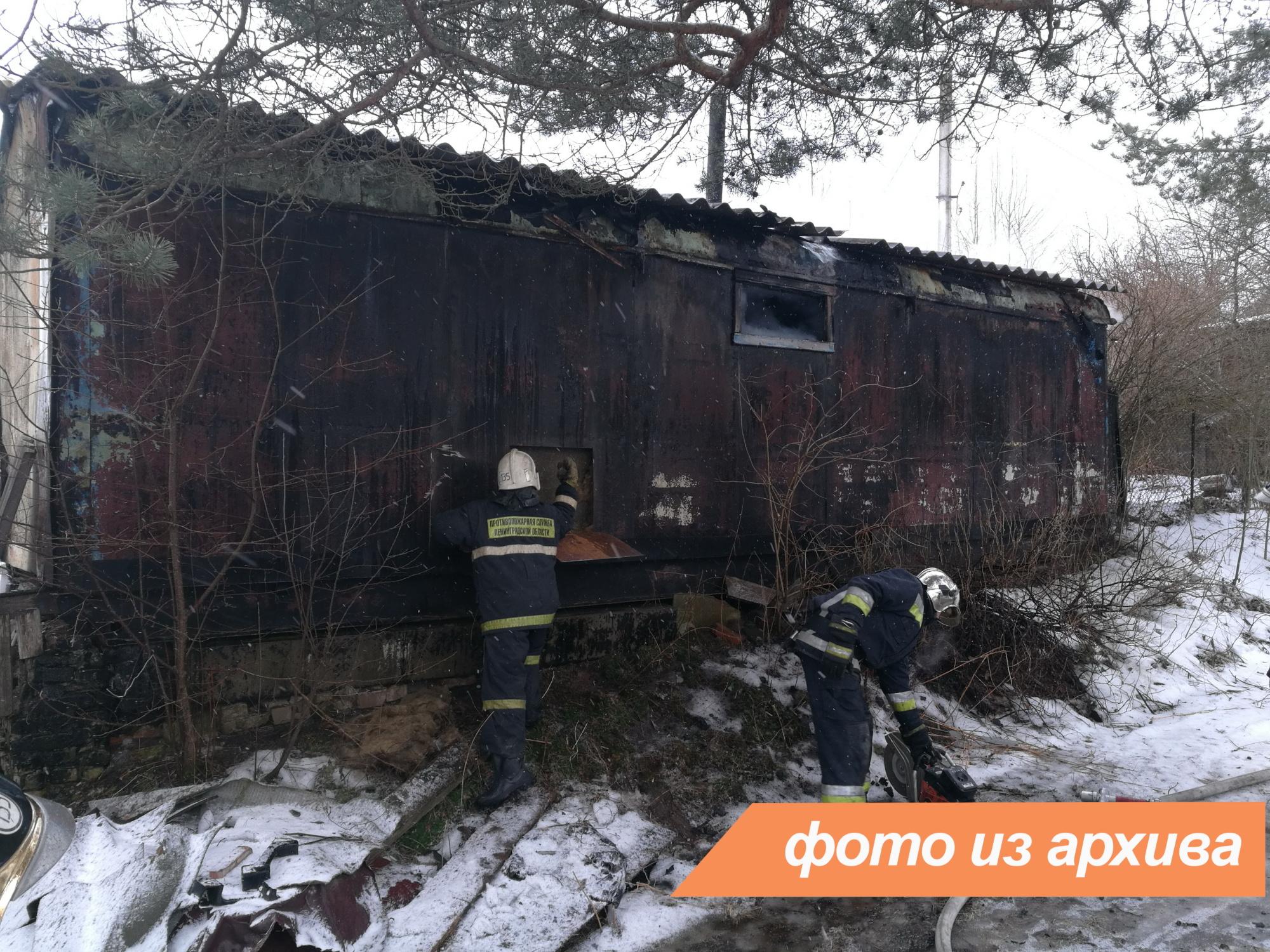 Пожарно-спасательные подразделения ликвидировали пожар в городе Мурино
