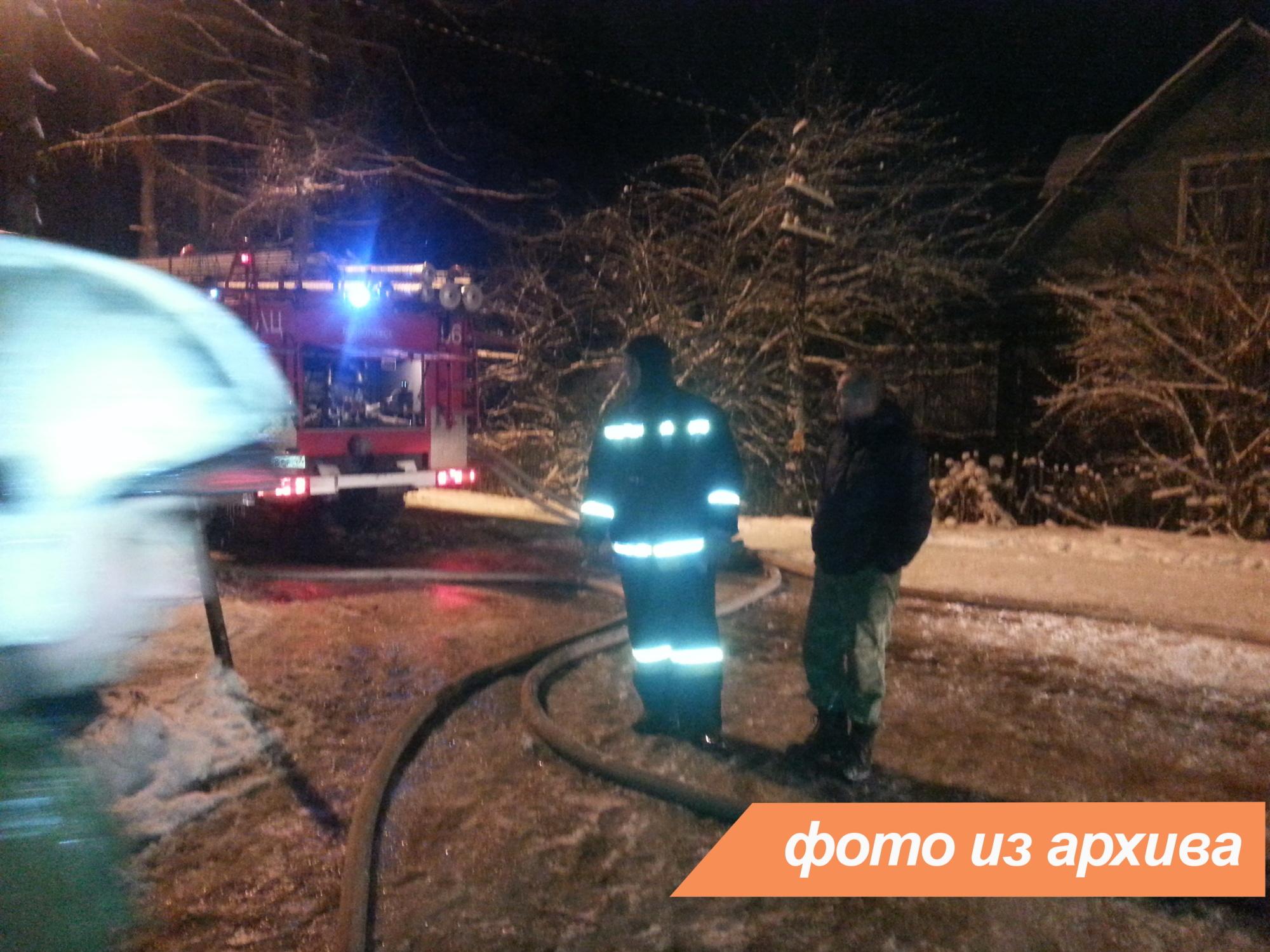 Пожарно-спасательное подразделение ликвидировало пожар в Бокситогорском районе