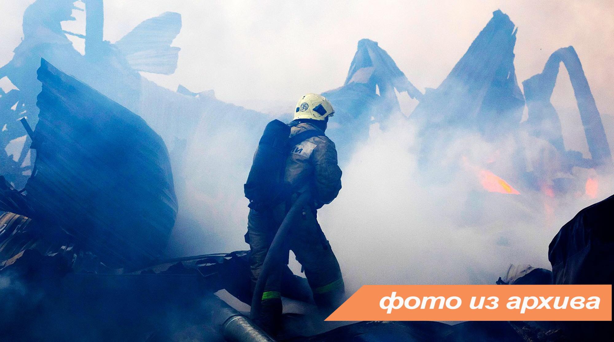 Пожарно-спасательные подразделения ликвидировали пожар во Гатчинском районе