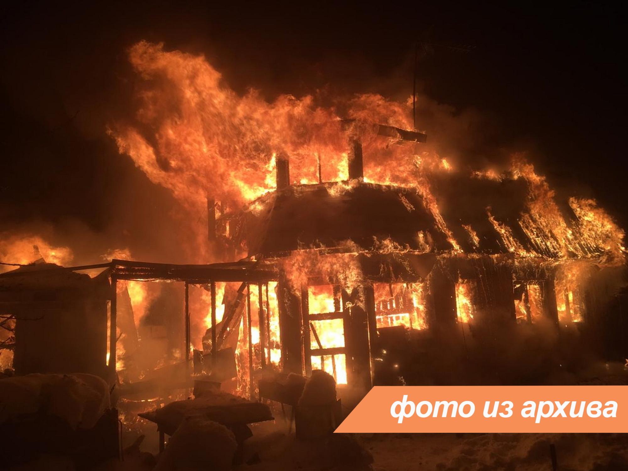 Пожарно-спасательные подразделения ликвидировали пожар в Ломоносовском районе