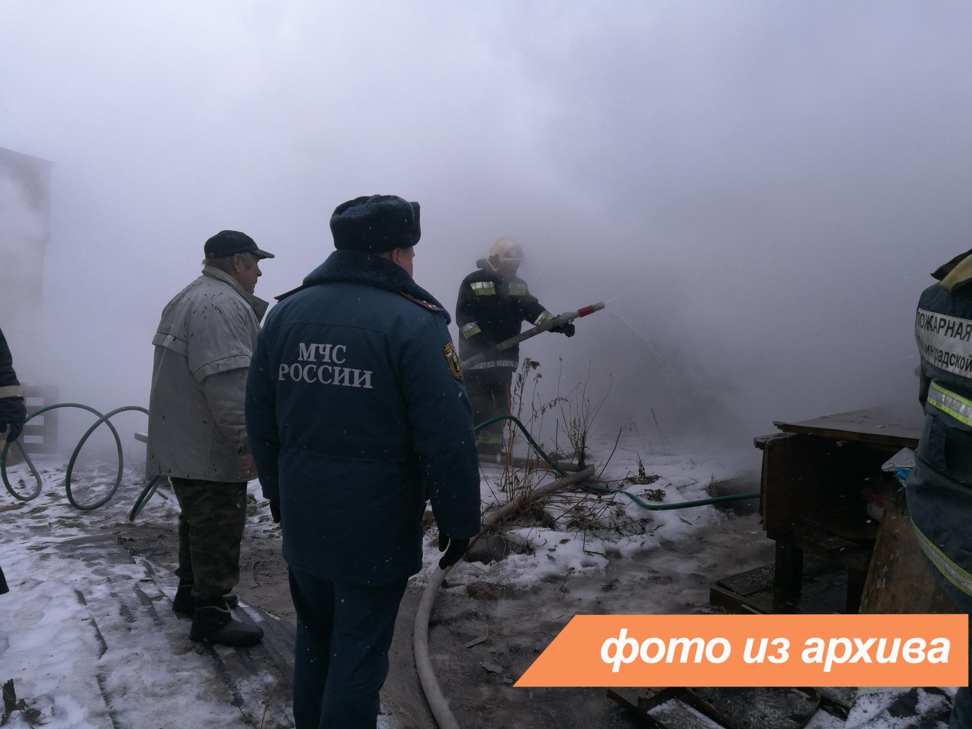 Пожарно-спасательные подразделения Ленинградской области ликвидировали пожар в Волосовском районе