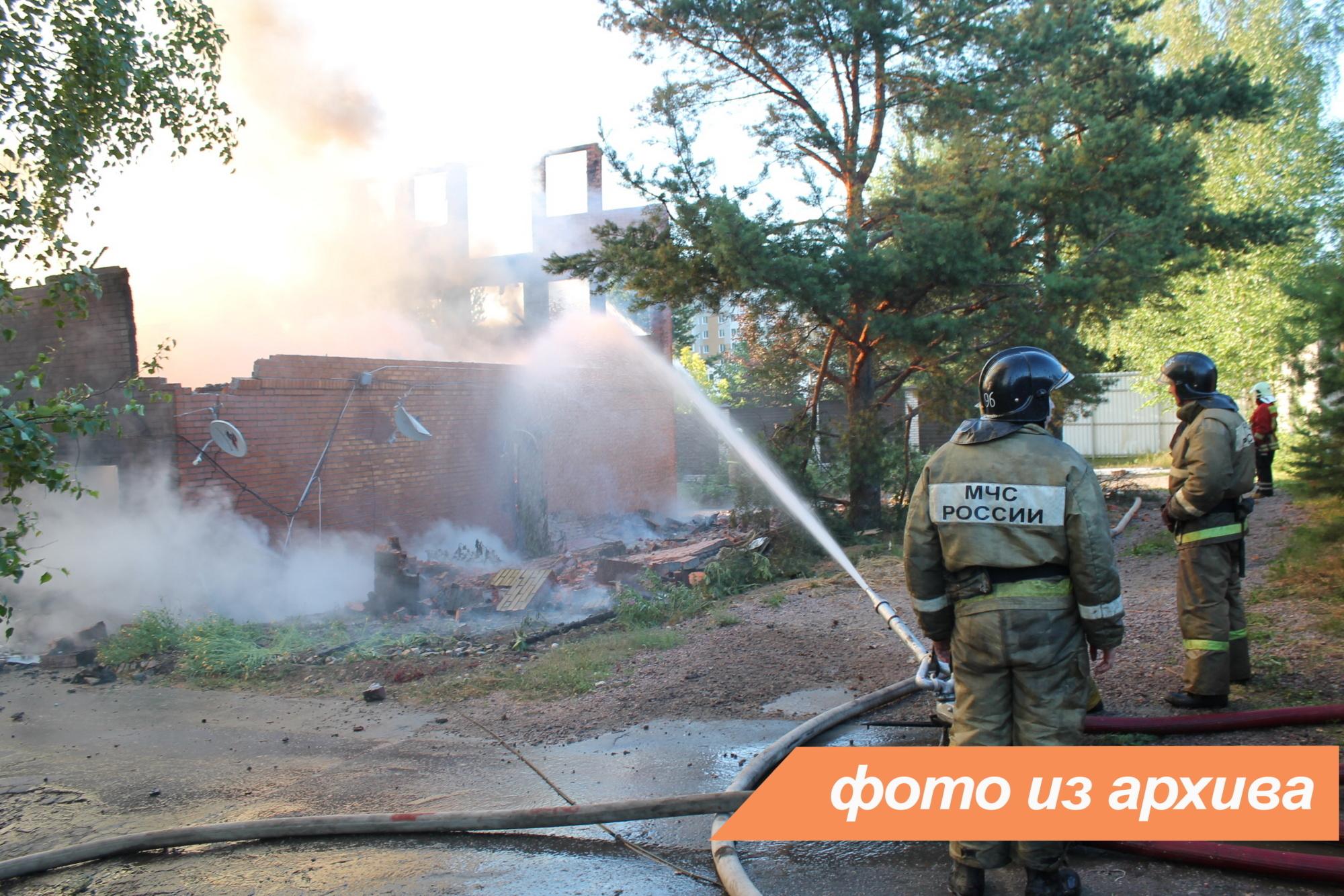 Пожарно-спасательные подразделения Ленинградской области ликвидировали пожар в Лодейнопольском районе