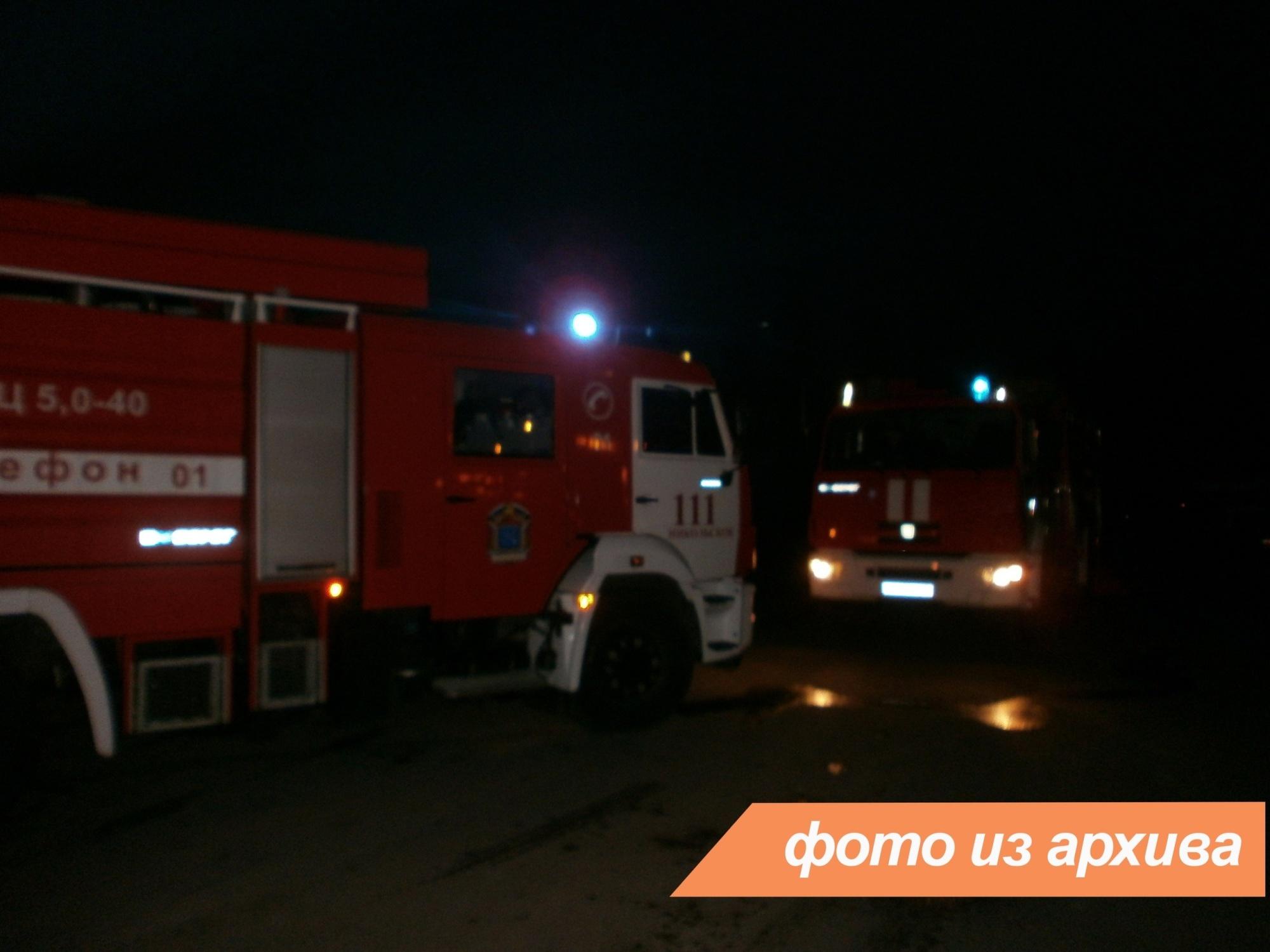 Пожарно-спасательное подразделение Ленинградской области ликвидировало пожар в г. Лодейное поле