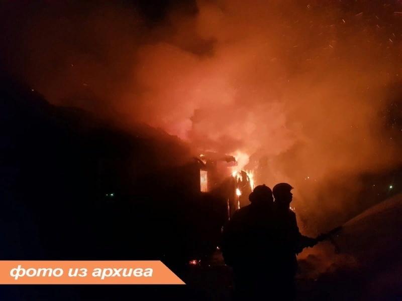 Пожарно-спасательное подразделение Ленинградской области ликвидировало пожар в Лодейнопольском районе