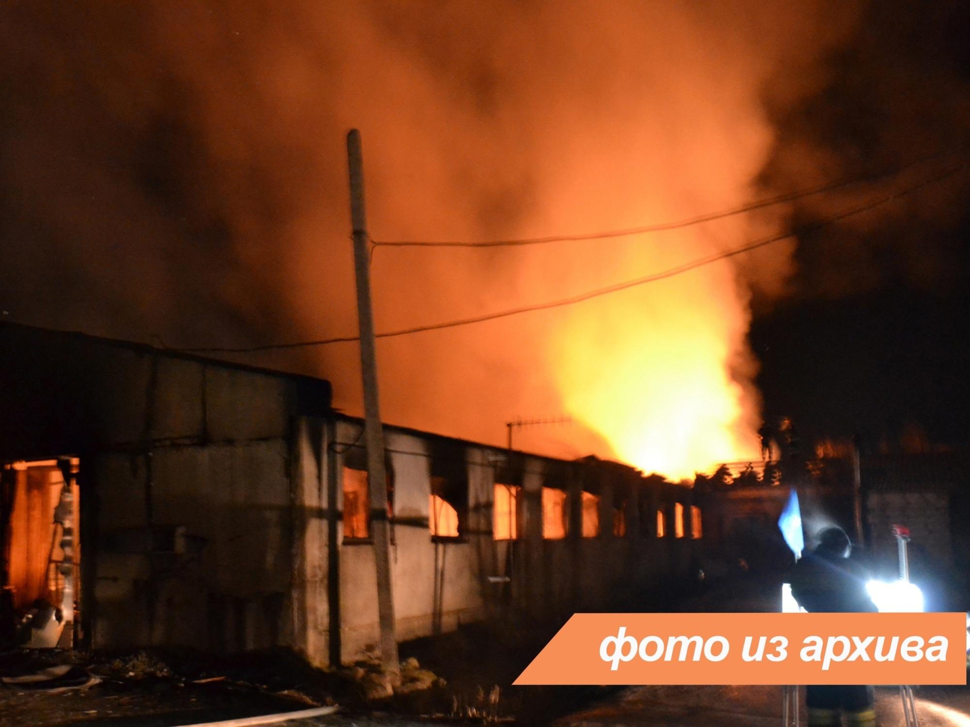 Пожарно-спасательные подразделения Ленинградской области ликвидировали пожар в Тихвинском районе